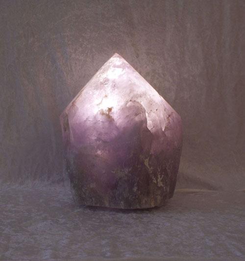 Amethyst-Leuchte Kristall Groß