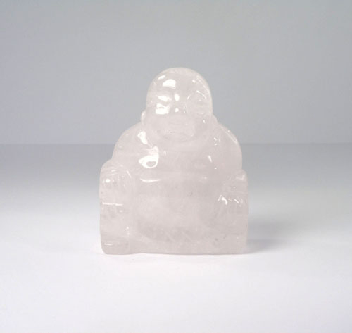 Lachender Buddha Rosenquarz