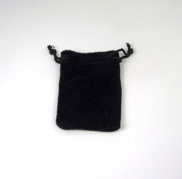 Zugbeutel aus Samt 65x100 mm schwarz
