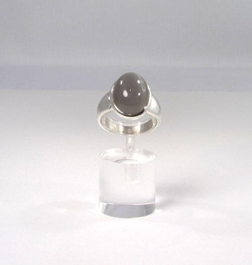 Unikat Ring Mondstein grau