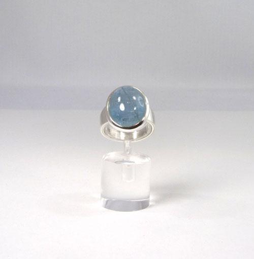 Unikat Ring Aquamarin Oval