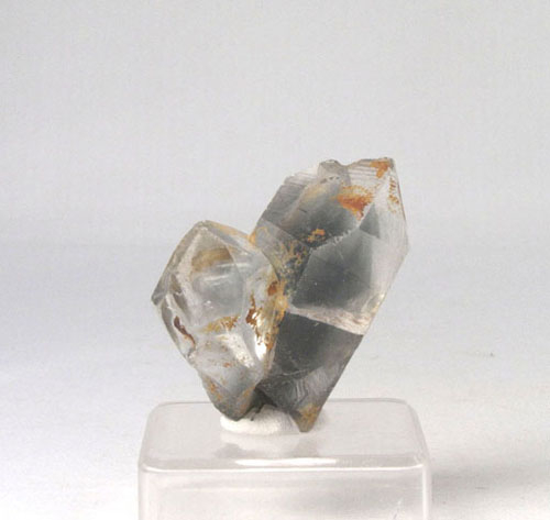 Unikat Rutilquarz Zwillingskristall Silber-Rutil