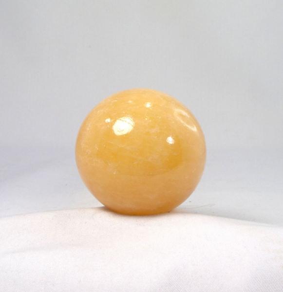 Unikat Calcit, Orangen-Calcit Kugel 51 mm