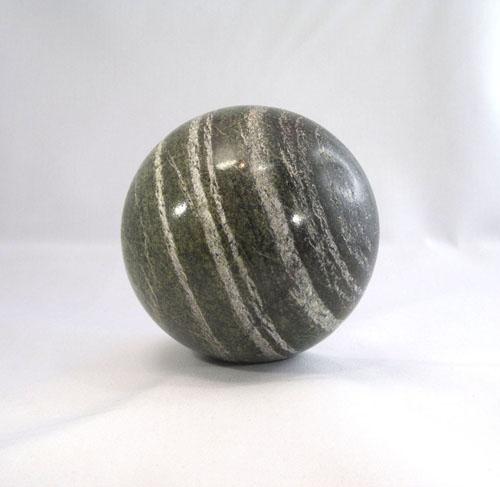 Unikat Serpentin Silberauge Kugel