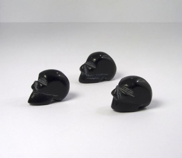 Obsidian Schädel mini