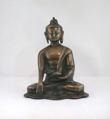 Buddha der Erdberührung Bronze