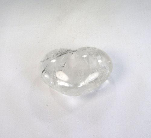 "Bergkristall mit Chlorit, ""Chloritquarz"" Herz"