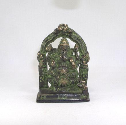 Ganesha im Schrein Bronze