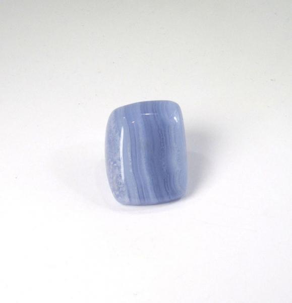 Unikat Chalcedon Blau Handschmeichler