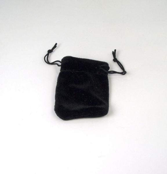 Zugbeutel aus Samt 50x70 mm schwarz