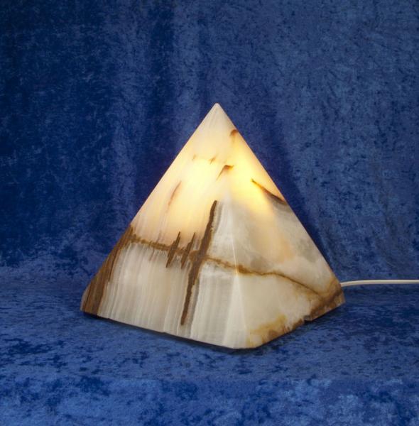 Unikat Calcit-Leuchte Pyramide