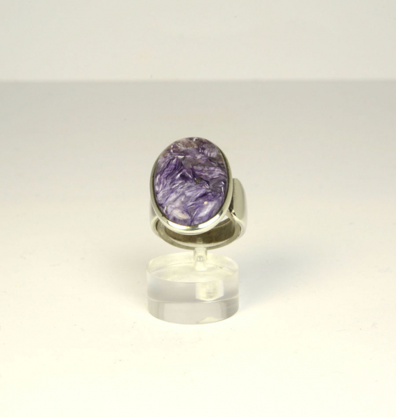 Unikat Ring Charoit Oval