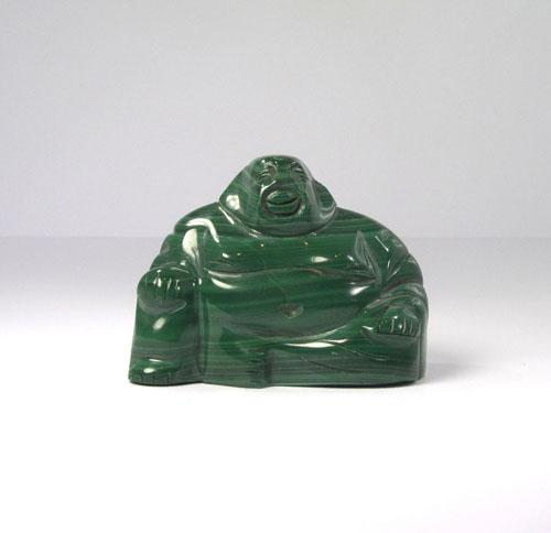 Unikat Lachender Buddha Malachit