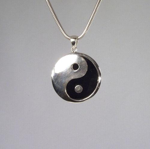 Anhänger Yin-Yang Achat 33 mm