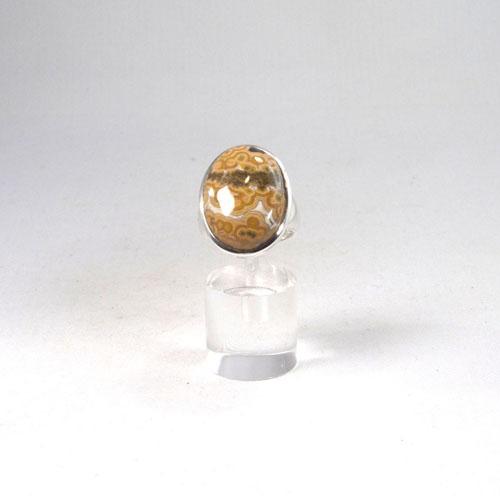 Unikat Ring Ozean-Chalcedon Oval