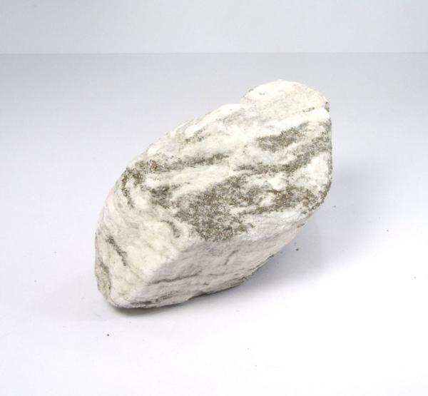 """Unikat Weißer Dolomit """"Zuckerdolomit"""" mit Pyrit"""