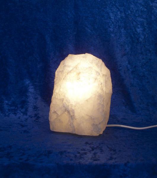 Unikat Bergkristall-Leuchte Klein