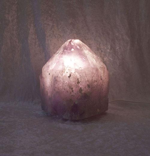 Amethyst-Leuchte Kristall Klein