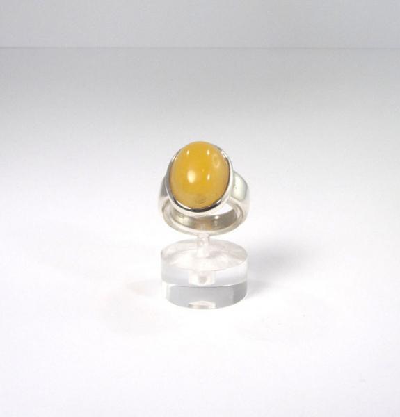 Unikat Ring Bernstein Gelb Oval