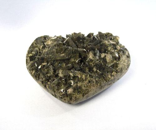 Herz Epidot natur