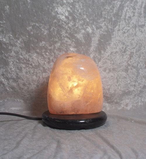 Roisenquarz-Leuchte Poliert m. Sockel