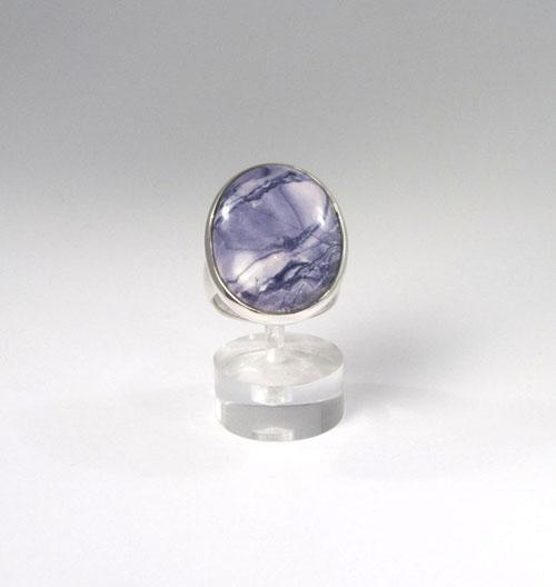 Unikat Ring Fluorit-Opal Oval