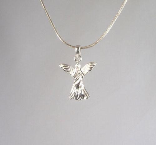 Anhänger Engel Schutzengel Silber