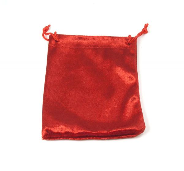 Zugbeutel aus Samt 100x130 mm rot