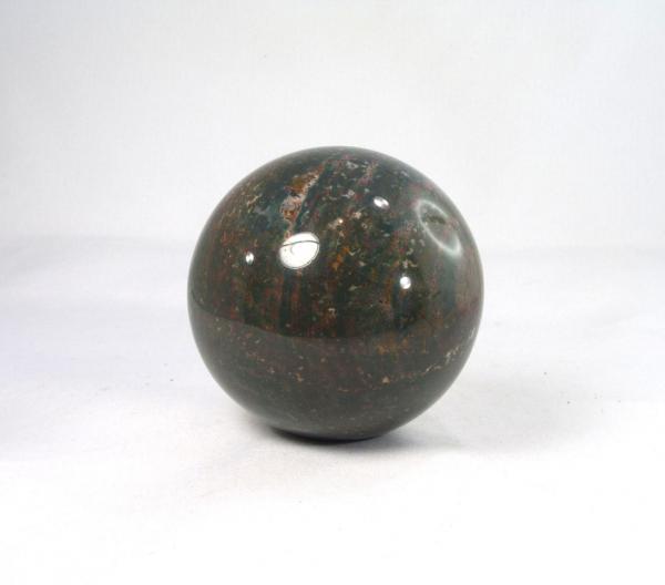 Unikat Heliotrop Kugel 72 mm