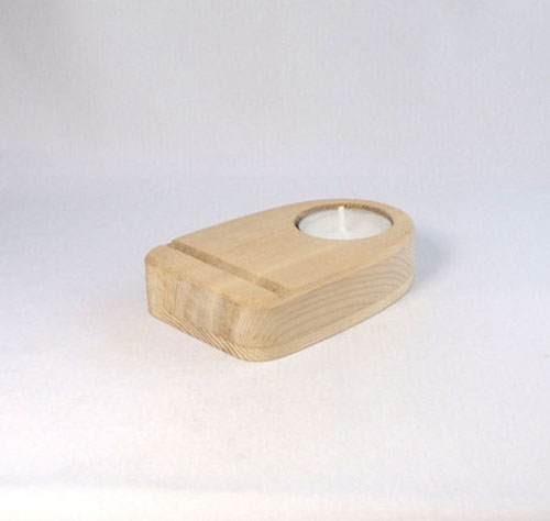 Scheibenständer Holz natur