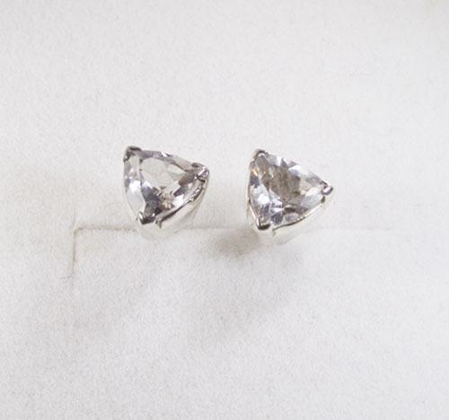 Ohrstecker Bergkristall Triangel