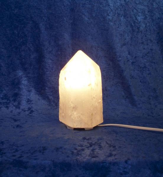 Unikat Bergkristall-Leuchte Kristall Ansicht 2