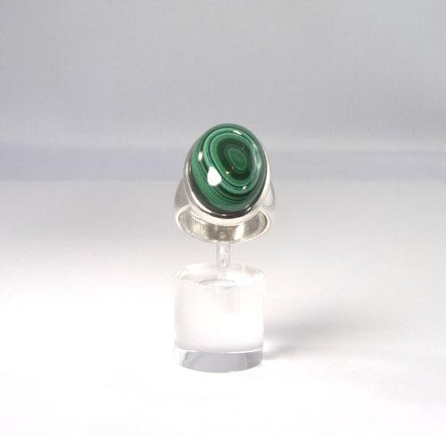 Unikat Ring Malachit Oval