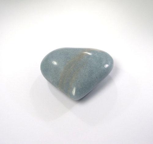 Unikat Blauquarz Herz Trolleit-Quarz