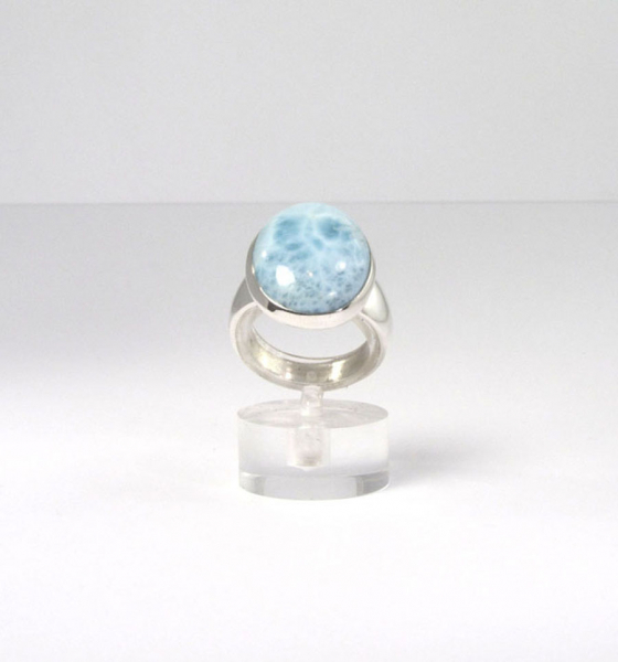 Unikat Ring Larimar Oval