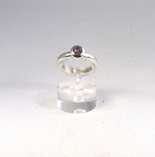 Ring Roter Spinell Rund