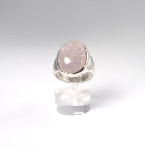 Unikat Ring Rosenquarz Oval