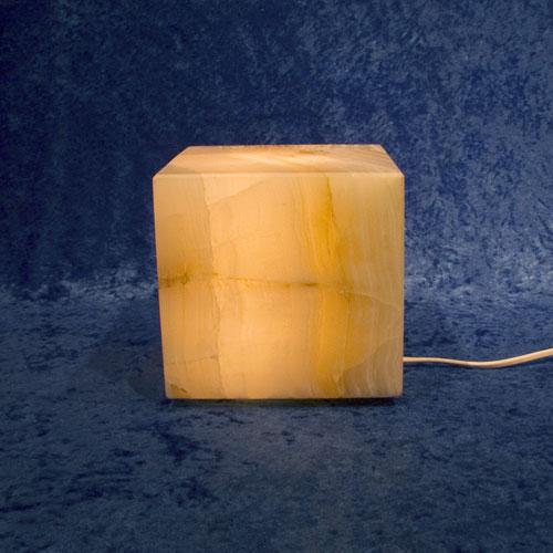Calcit-Leuchte Würfel
