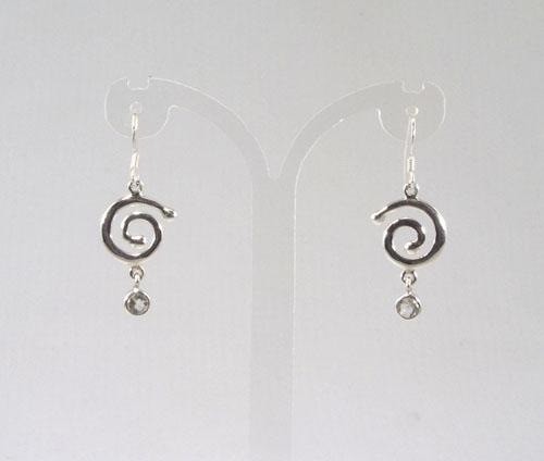 Ohrhänger Bergkristall Spirale