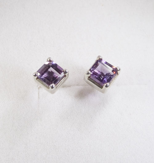 Ohrstecker Amethyst Square
