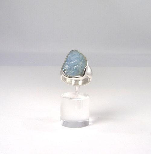 Unikat Ring Aquamarin Rohstein