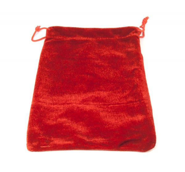 Zugbeutel aus Samt 140x200 mm rot