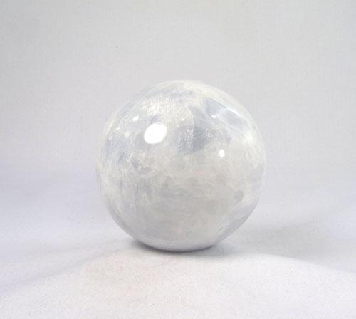 Unikat Calcit blau Kugel 66 mm