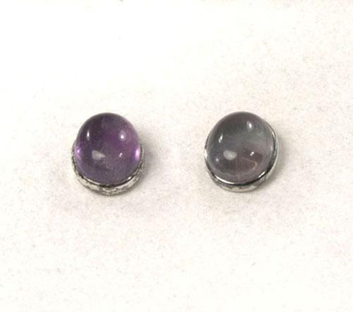 Unikat Ohrstecker Fluorit violett Oval