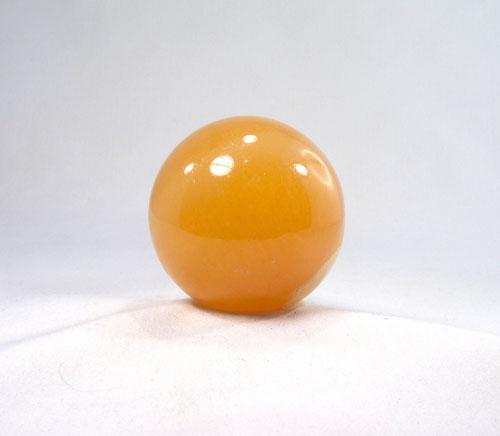 Orangen-Calcit Kugel